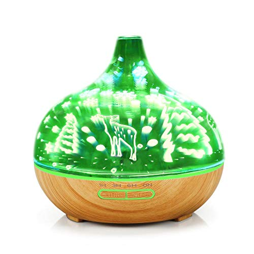 Essential Oil Diffuser, Whisper Quiet Humidifier, Waterless Auto Shut-Off for Home Office Yoga SPA Mist Aroma Scented Oil Diffusers