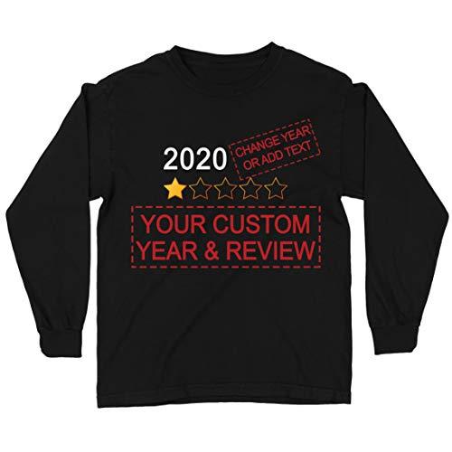 lepni.me Camiseta para Niños Muy Malo No Recomendaría Comentarios Valoración Personalizada de Estrellas y Texto 2021 Revisión (14-15 Years Negro Multicolor)