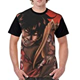 fenrris65 Hellsing Ultimate Mens Cosplay 3D Printed Anime Cartoon Short Sleeve T-Shirts M