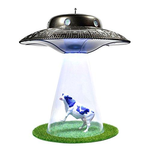 GOODS+GADGETS Lámpara de noche con tractor de Alien UFO, divertida lámpara de noche con tractor
