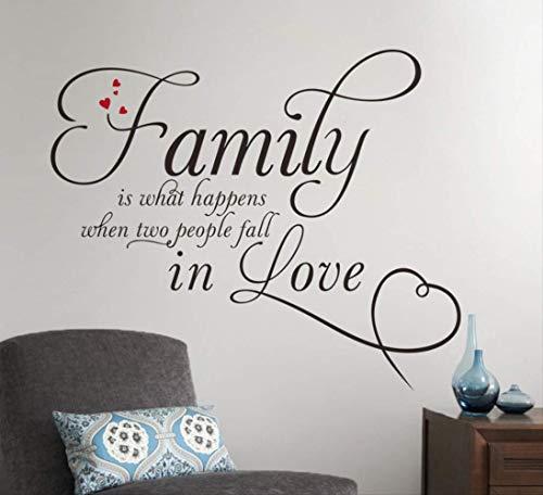 Muurstickers familie is wat er gebeurt wanneer twee mensen vallen in liefde patronen voor huisdecoratie kamer decoratie Sticker op de muur