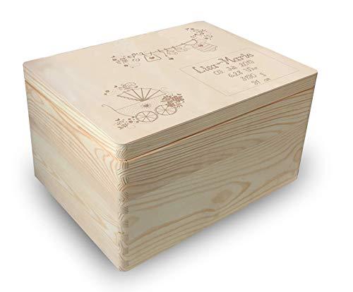 MidaCreativ Holz-Geschenkbox zur Geburt mit Lasergravur