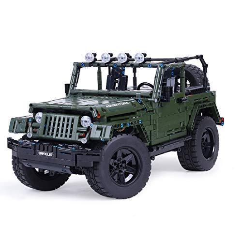 DXX Technik Bausteine Auto Jeep Wrangler Adventurer, 2078Teile 1:8 Geländewagen Bausteine Konstruktionsspielzeug Kompatibel mit Lego Technic