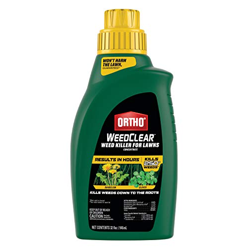 Ortho WeedClear Weed Killer for Lawns Concentrate: Treats up to 16,000 sq. ft., Won't Harm Grass (When Used as Directed), Kills Dandelion & Clover, 32 oz.