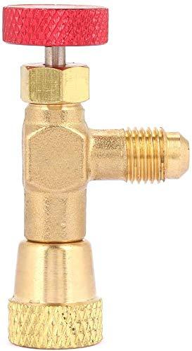 1/4 '' - 5/16 '' Valvola di carica refrigerante in ottone, valvola di sicurezza al fluoro, valvola di controllo del flusso per refrigerante R410A, accessori per condizionatori d'aria