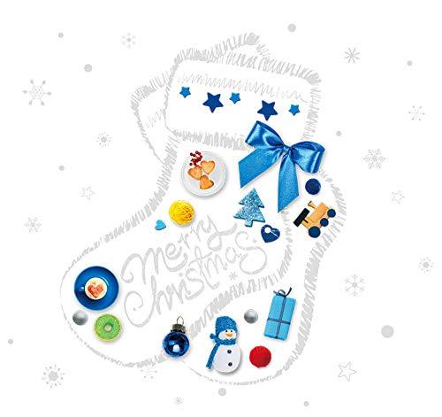 sufengshop Kerst Sokken Glas Stickers DIY Sneeuwpop Sneeuwvlokken Muurstickers voor Woonkamer Shop Venster Festival Decoratie Verpakking Grootte 60×45cm