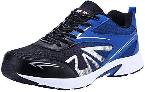 LARNMERN Zapatillas de Seguridad Hombres LM180105 SB Zapatos de Trabajo con Punta de Acero Ultra Liviano Suave y cómodo Transpirable(40 EU,Azul Oscuro)