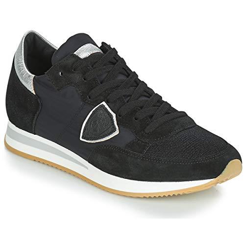 Philippe Model Tropez Basic Sneaker Damen Schwarz/Silbern - 36 - Sneaker Low