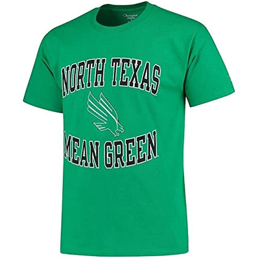 時理容室カップルChampion Champion North Texas Mean Green Kelly Green Tradition T-Shirt スポーツ用品 【並行輸入品】