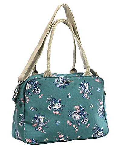 Cath Kidston 'Eiderdown Bunch' Samson Handtas, schoudertas, cross body bag in groenblijvende oliehuid