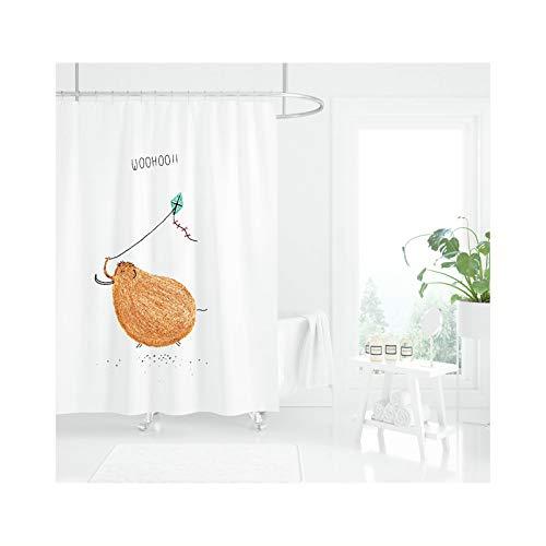 Daesar Lustiger 3D Duschvorhang Antischimmel Huhn Bad Vorhang für Badezimmer 80x165 cm
