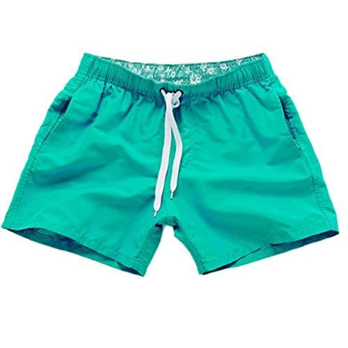 ELECTRI Maillots de Bain Hommes Respirant Shorts de Plage avec Poche Séchage Rapide Pantalon de Plage de Couleur Unie pour Hommes Pas Cher Boxer Shorts (S-2XL)