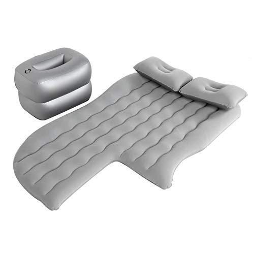 Auto Luftmatratze Aufblasbares Bett Auto Rücksitzkissen Aufblasbares Luftkissen Bett mit Kissen Auto Luftmatratze Bewegliche Luftbett Auto Matratze für Reisen Camping Outdoor Aktivitäten(Grau)