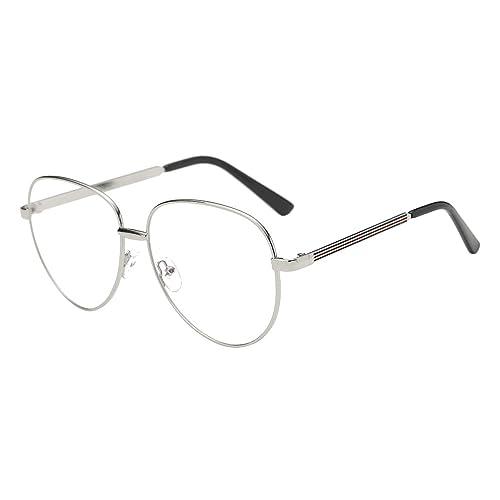 b653f379f8d BOZEVON Clear Lens Transparent Glasses - Round Ultrathin Metal Frame  Reading Glasses Decor Retro Eyewear Eyeglasses