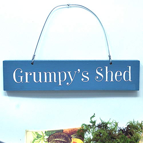 Angelic Hen Grumpy's Shed Outdoor Hanging Sign