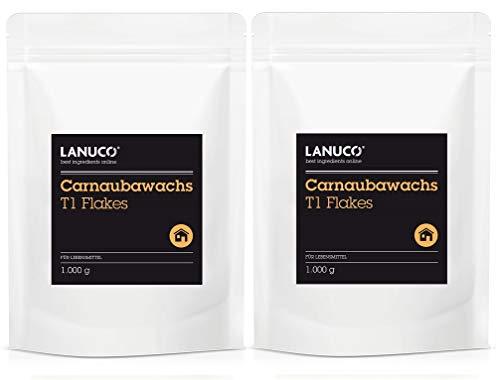2 x 1 kg Carnaubawachs T1 - E903 Lebensmittelqualität, Flakes, Hart, Wax, Hartwachs, Polituren, Kerzen