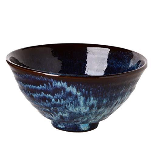Ceramic Bowl Bowl, Bowl Kiln Glaze Personality Tableware Ceramic Bowl Vintage Household Ramen Bowl Bowl of Soup Bowl 18 * 9cm