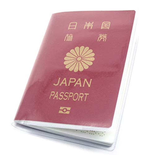 (Aideaz) シンプル 透明 パスポート カバー セット 簡単着脱 防水 防塵 ポケット 付 2種類 (透明(外側) 3枚)