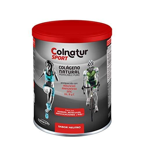 Colnatur Sport sabor Neutro, 330grs. Proteína hidrolizada de colágeno Colnatur y Vitamina C, Magnesio, Manganeso, Zinc y vitaminas B2 y B3, 11grs al día.