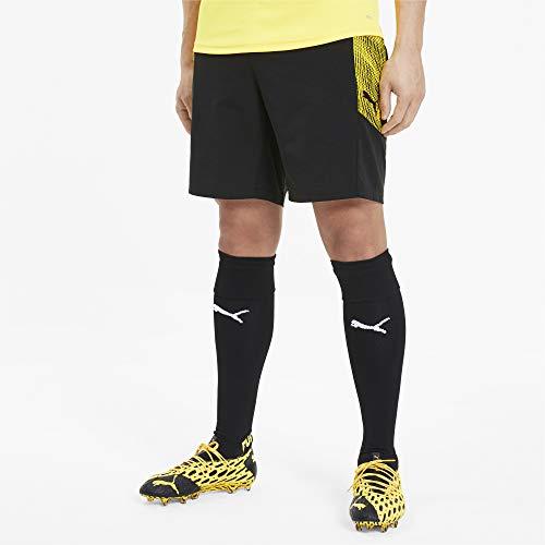 Puma Ftblnxt PRO, Pantaloncini Uomo, Nero Black/Ultra Yellow, L