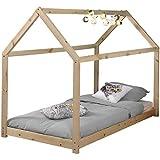 Lit cabane Home 90x200 - naturel