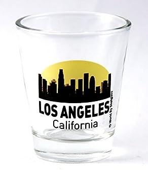 Los Angeles California Sunset Skyline New Shot Glass