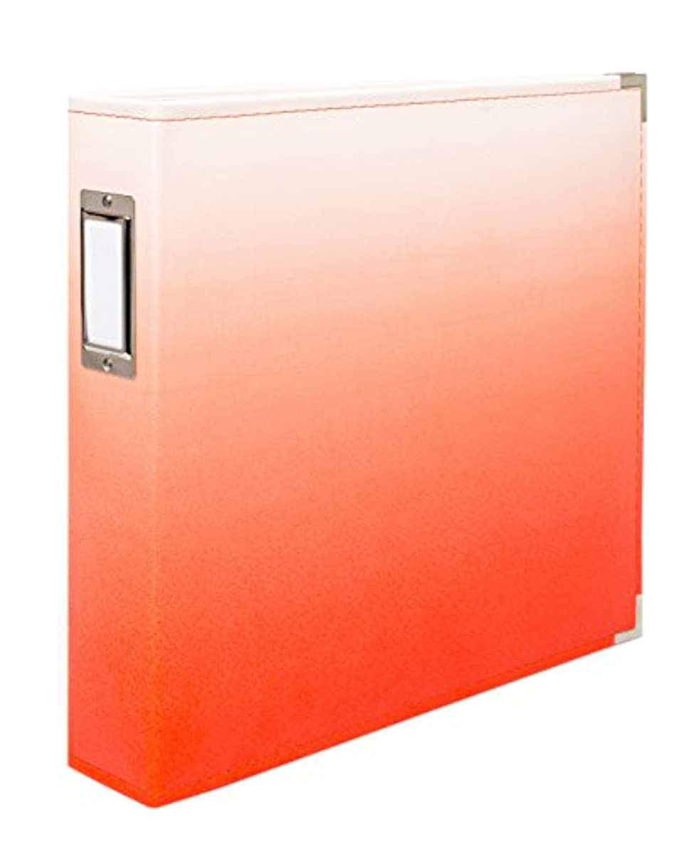 American Crafts 662835 We R Memory Keepers Designer Album, Ombre Coral