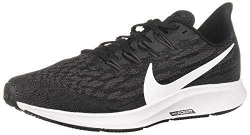 Nike Air Zoom Pegasus 36 Women's Running Shoe Black/White-Thunder Grey Size 8.5 Wide