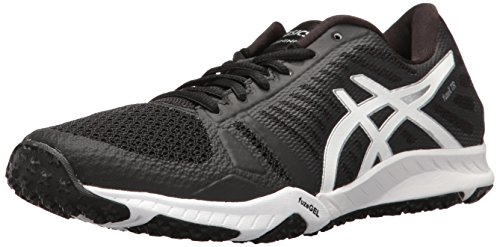 ASICS Women's FuzeX TR Cross-Trainer Shoe, Black/White/Silver, 5.5 M...