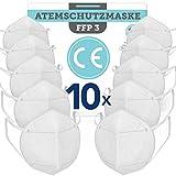 BEMS MEISTERWERK FFP3Maske 10 STK.EUCE zertifiziert (EN149:2001+A1:2009) – PremiumAtemschutzmaskeohne Ventil für maximale Sicherheit –Mundschutz