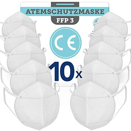 BEMS MEISTERWERK FFP3MaskeEUCE zertifiziert (EN149:2001+A1:2009) – PremiumAtemschutzmaskeohne Ventil für maximale Sicherheit –Mundschutz