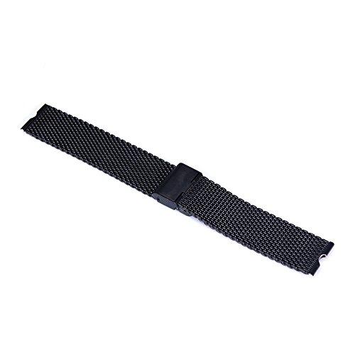 Aohro 22 mm Acero Inoxidable Correa de Reloj Band para Motorola Moto 360 SmartWatch Reemplazo Pulsera Venda Watchband con Instalación de herramientas - ( Malla metal - negro )