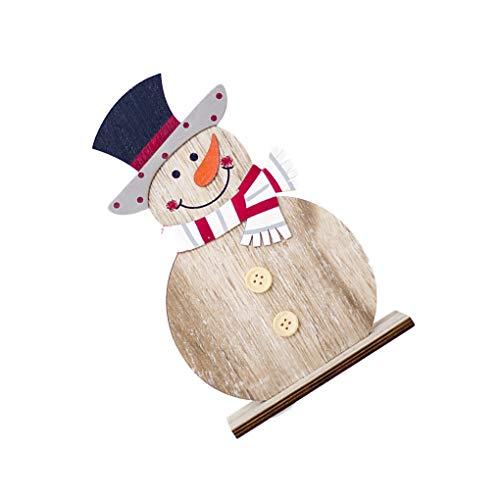 Pigup Madera del muñeco de Nieve del Dibujo Accesorio de Coloreado Vector de la decoración de Navidad Ornamento...
