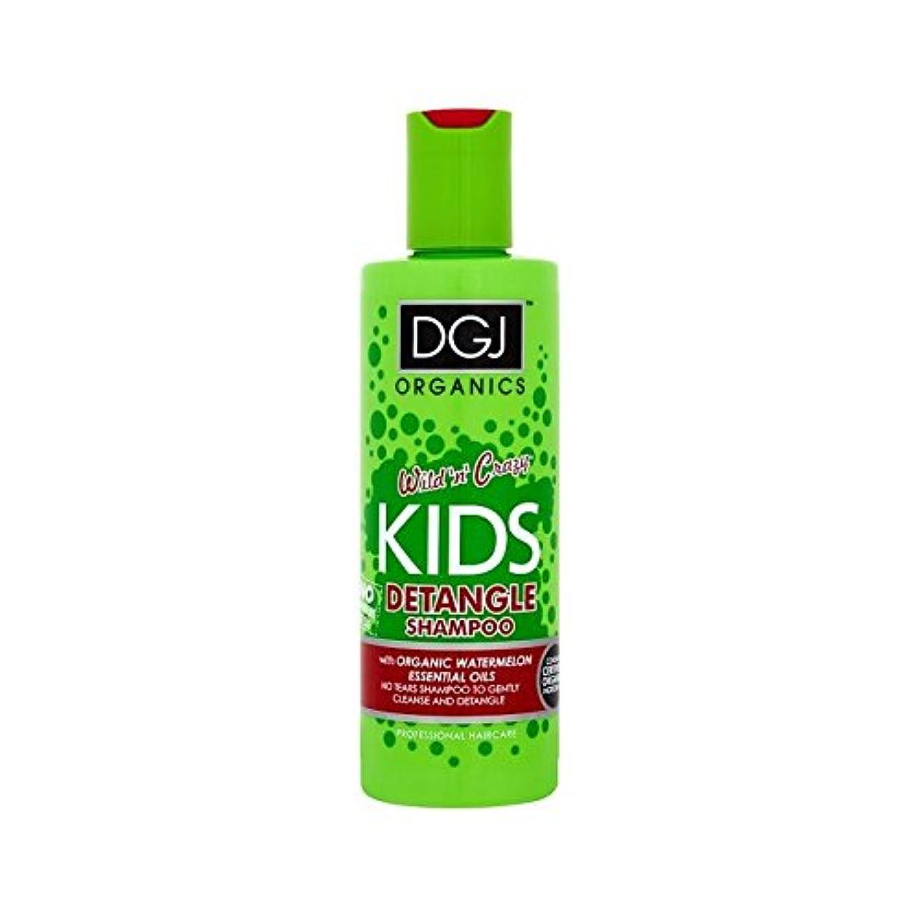 スケッチ尊厳間に合わせDgj子供たちはシャンプー250ミリリットルをもつれ解除スイカ (DGJ Organics) (x 4) - DGJ Kids Watermelon Detangling Shampoo 250ml (Pack of 4) [並行輸入品]