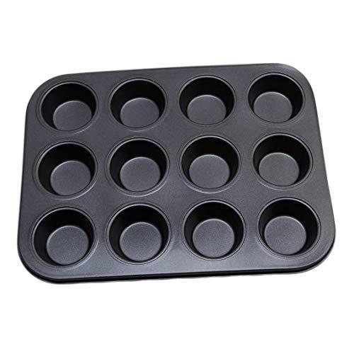 ZT TRADE Crostata Pirofila Muffin Torta Muffin Cucina 12 Tazze Antiaderenti Cupcake in Metallo Stampo Strumenti di Cottura