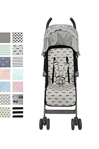 Fundas BCN ® - F219/9099 - Colchoneta universal para silla de paseo - Estampado Baby Bat
