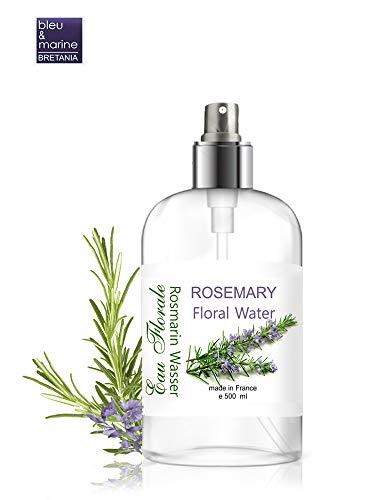 Hidrolato de Romero Agua Floral Spray Facial- Loción Tónica para el cabello y la piel grasa y con acné Natural 100% 500 ML