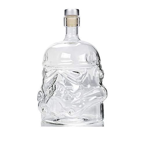 1 PCS Star Wars Glass Stormtrooper Decanter Soldado Blanco Vidrio Jarra Botella de licor Alto Borón Botella de vidrio Vino - 650ml