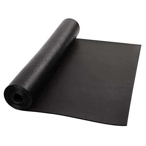 Cinta de correr de PVC de 5 mm de grosor, patrón de piedra negra para yoga, ejercicio y fitness