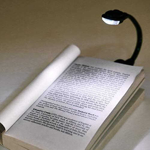 Kongqiabona-UK Mini-Lampe, flexibel, mit Clip, helle Buchlampe, Laptop, weiße LED, Leselampe, kompakt, tragbar
