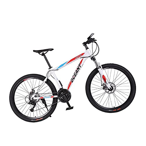 T-Day Bicicleta Montaña Adultos Bicicleta De Montaña 21 Velocidad 3-Habla 26 Pulgadas Ruedas Doble Disco Freno De Bicicleta para Un Sendero, Sendero Y Montañas