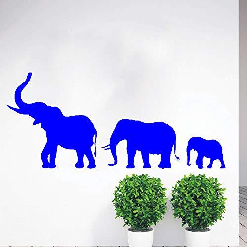 Zaosan Walking Elephant Family Wandtattoo Vinyl Kunst Aufkleber Kindergarten Zoo Dekoration Schlafzimmer Wohnzimmer Kinderspielzimmer Dekoration