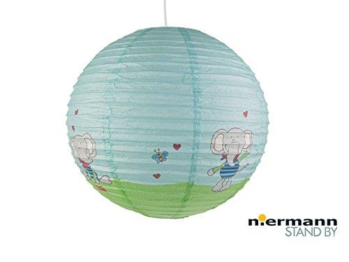 Papierlampe fürs Kinderzimmer - Lampenschirm mit LOLO LOMBARDO Motiv - Pendelleuchte mit Aufhängung