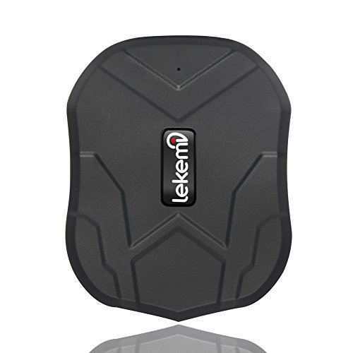 LEKEMI Localizador GPS para vehículos con aplicaciones móviles gratuitas, imán fuerte y batería de 5000 mAh