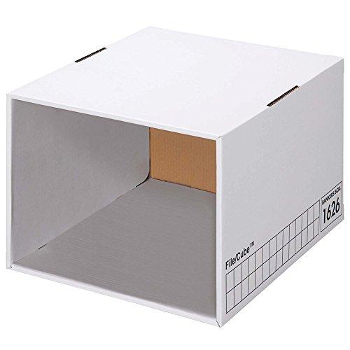 フェローズ ファイルキューブ 1626 白/黒 3枚1セット バンカーズボックス703(A4サイズ)/743を引き出しに 1162701