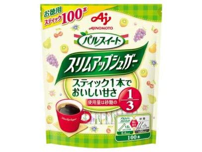 味の素 パルスイート スリムアップシュガー スティック100本入り 160g 40個 (10×4箱) ZHT