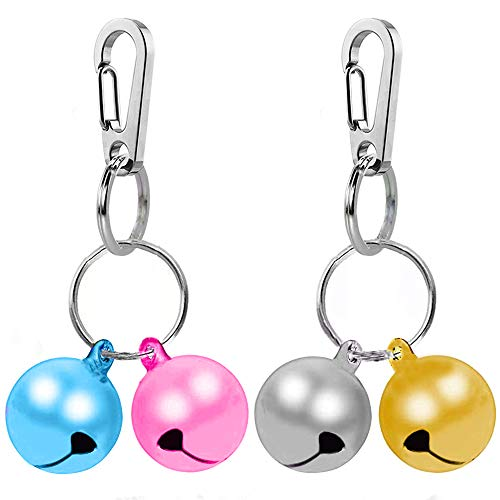 IVIA PET Multicolor Cat Bells for Dog Collar Charm with 2 Pack Stainless Steel Dog Tag Clips for Pet Collar Accessories(X-S)