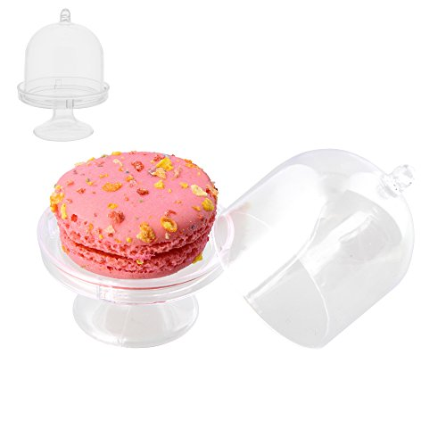 mini acrylic cake stand with lid - 4