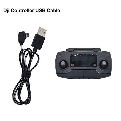 Tineer Nylon Braided USB Data Connect Remote Controller Charging Cable for DJI MAVIC MINI/Mavic Pro Platinum/Mavic Air/Spark/Mavic 2 Pro&Zoom Controller Accessory