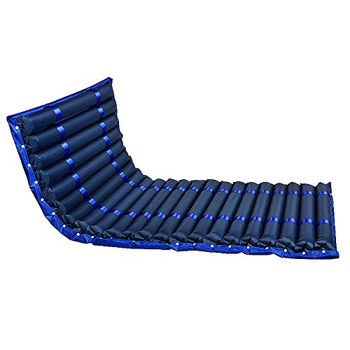 Afwisselend drukkussen en pomp laag luchtverlies ziekenhuis bed medische vervanging matras topper voor druk zweren en bed zweren Blauw, noholes
